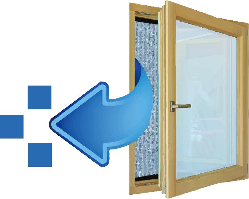 在安裝奈米纖維防霾紗網後打開窗戶,房間會充滿新鮮潔淨的空氣。